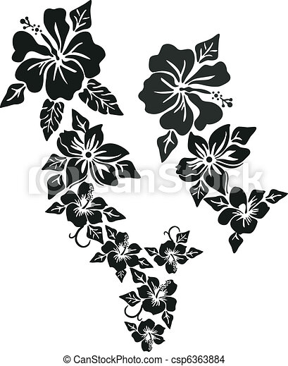 Tropical flower clothing - csp6363884
