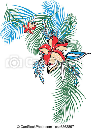 Tropical flower clothing  - csp6363897