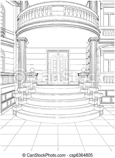 Building Entrance Residential House - csp6364805