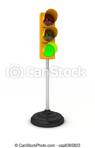 Green traffic light - csp6365823