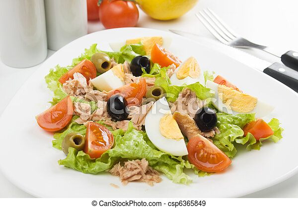 Egg salad with tuna meat - csp6365849