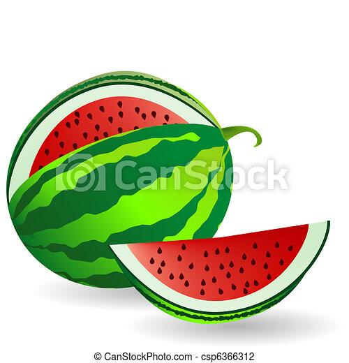 Clipart di frutta anguria fetta anguria con frutta for Clipart frutta