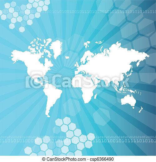 World map - csp6366490