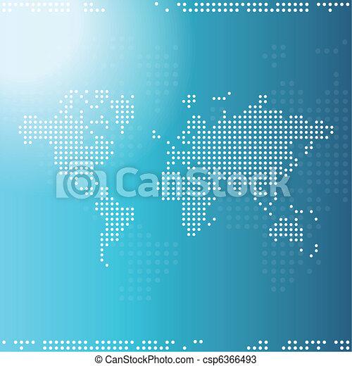 World map - csp6366493