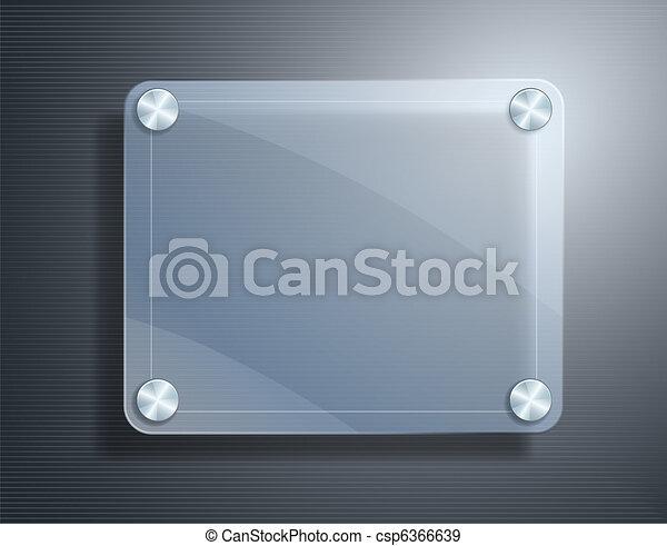 glass frame on metallic background - csp6366639