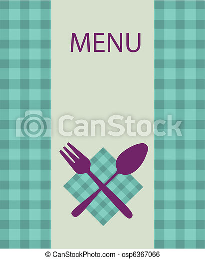 restaurant menu design with table utensil -2 - csp6367066