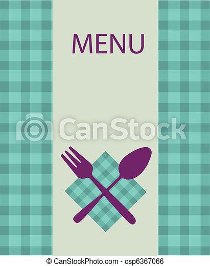 restaurant menu design with table utensil -2 - csp6367066