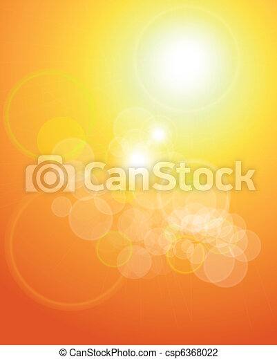 abstract background orange lights - csp6368022