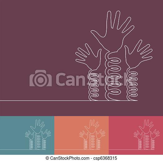 Fun coil spring hands design.  - csp6368315