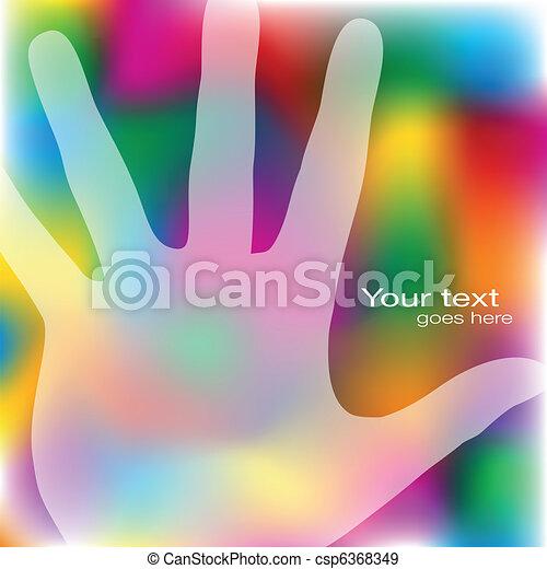Reaching hand design. - csp6368349