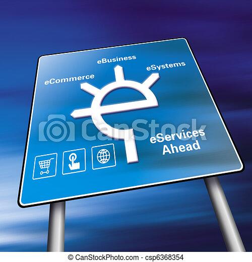 ecommerce sign - csp6368354