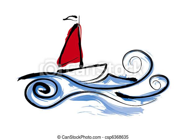 Sailing Boat Clipart Sailing Boat Illustration
