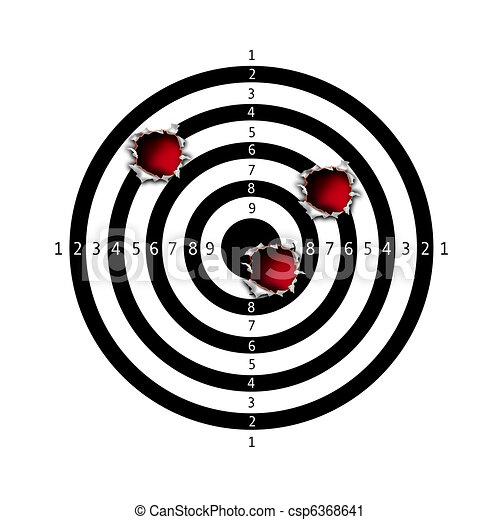 Target bullet holes - csp6368641