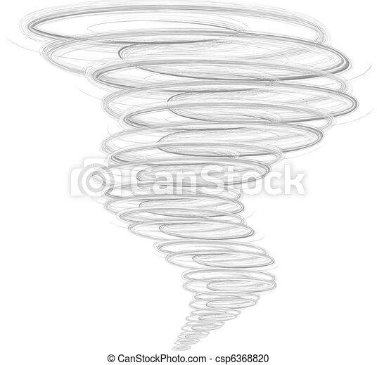 Illustration of tornado - csp6368820