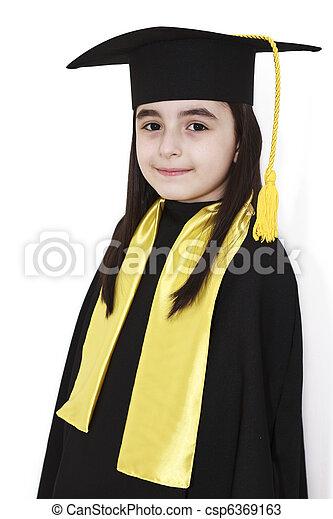 little girl graduation - csp6369163
