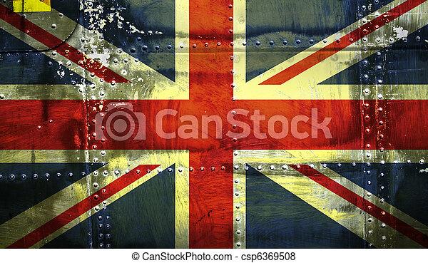 Grunge Union Jack Flag - csp6369508