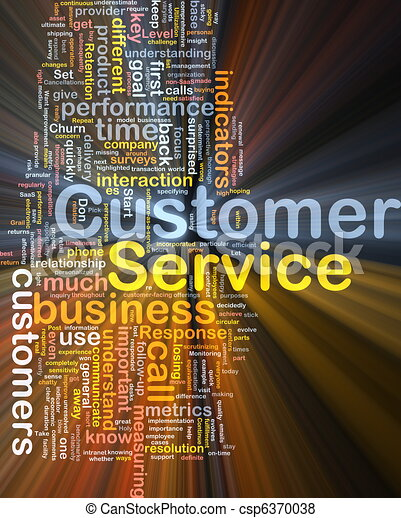 Customer service background concept glowing - csp6370038
