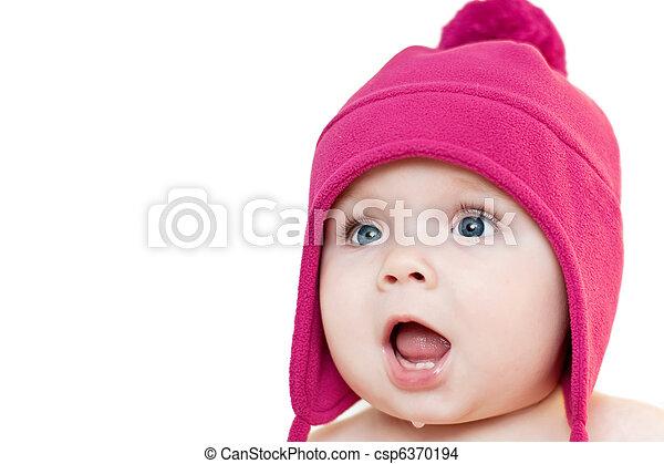 Surprised baby - csp6370194