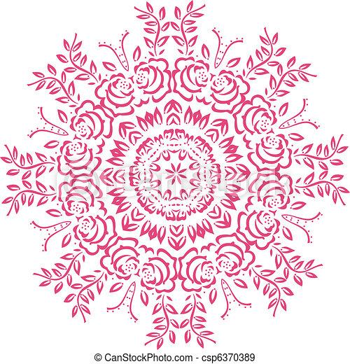 Stencil Mandala Indian Design  - csp6370389