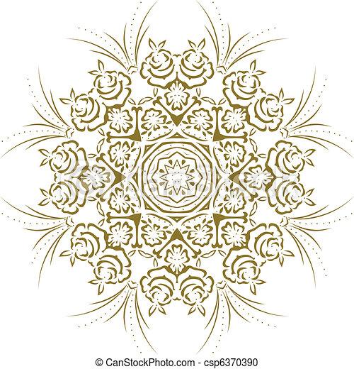 Stencil Mandala Indian Design  - csp6370390