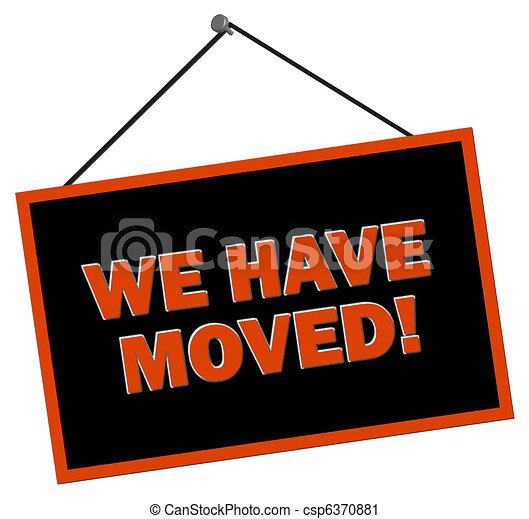 We have moved Sign - csp6370881