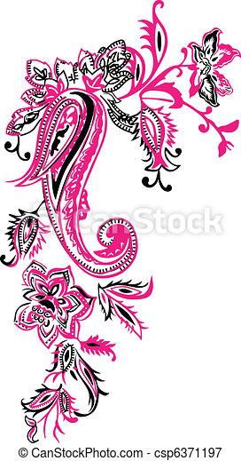 Floral design - csp6371197