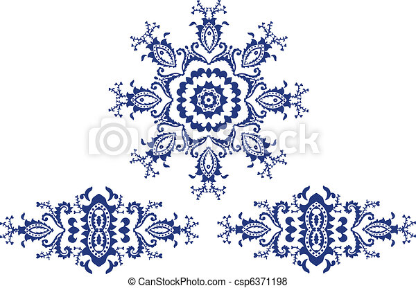 Mandala design art  - csp6371198