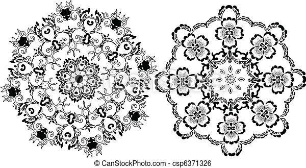 Stencil Mandala Indian Design - csp6371326