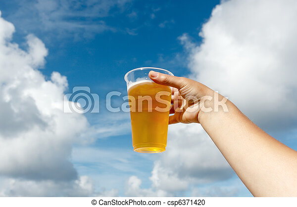 Cold drink in hand - csp6371420