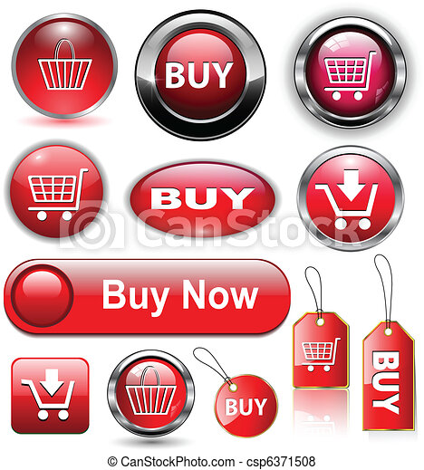 Buy buttons, icons set. - csp6371508