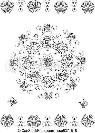 Mandala ornamental  - csp6371518