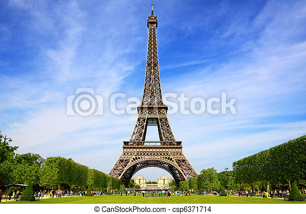 Eiffel Tower, symbol of Paris - csp6371714