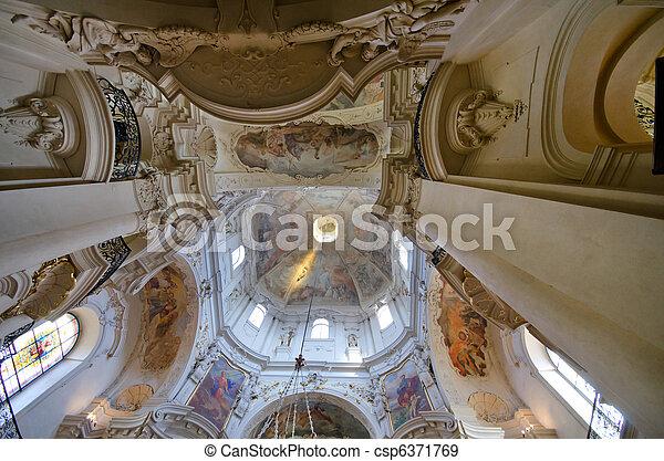 Interior of St. Nicholas Church, Prague, Czech Republic - csp6371769