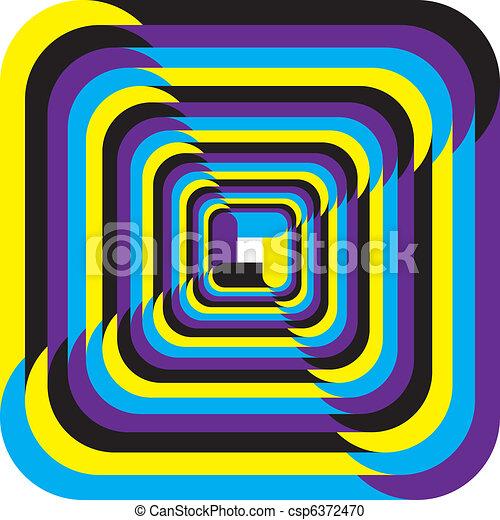 Hypnotic yellow, cyan, magenta, black - csp6372470