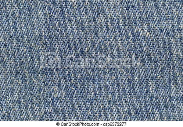 Blue denim fabric background seamlessly tileable - csp6373277