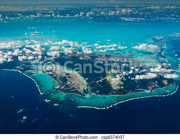 Aerial view of Bahamas - csp6374037