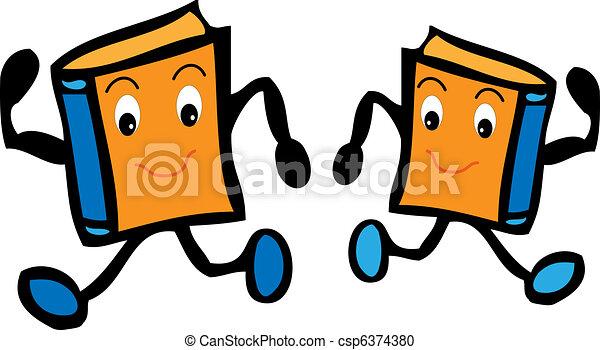 Two cartoon books  - csp6374380