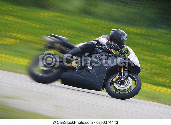 Sportbike Motorcycle Racer - csp6374443