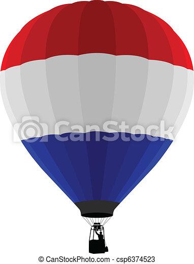 Air Balloon, Netherlands Flag  - csp6374523