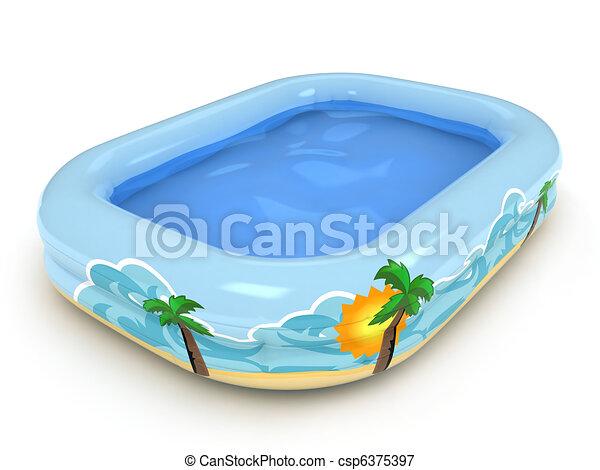 Inflatable Pool - csp6375397