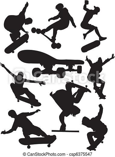 Extreme sports - skateboarding - csp6375547