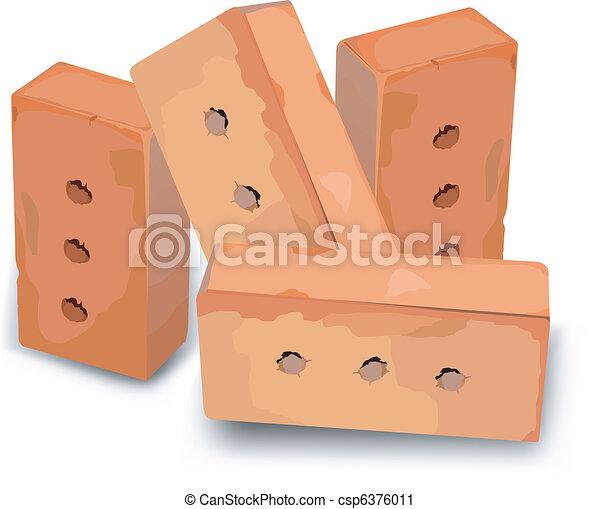 Red bricks  - csp6376011