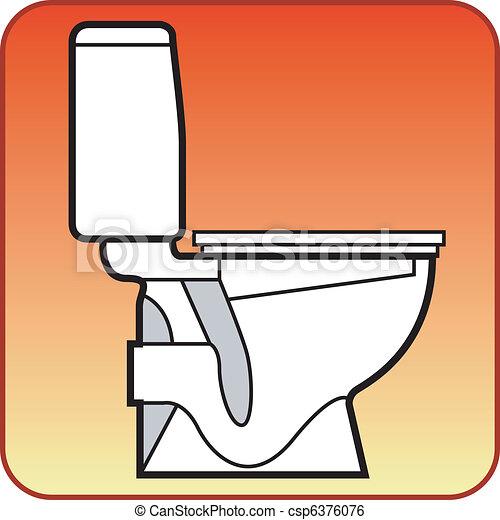 Schüssel clipart  Clip Art Vektor von kloschüssel - Toilet, schüssel, weißes, auf ...