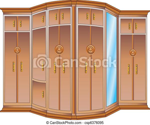 Wooden wardrobe - csp6376095