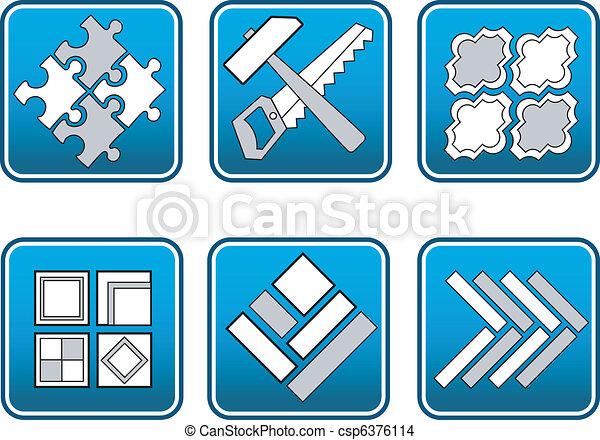 Mosaic from materials tools - csp6376114