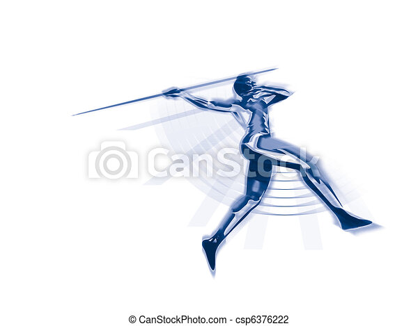 Javelin thrower - csp6376222