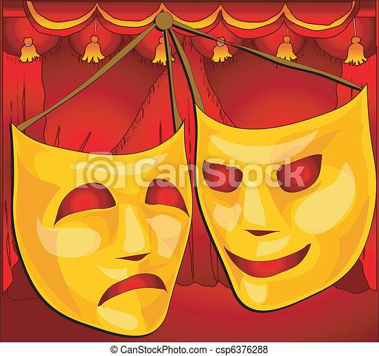 Theatre masks - csp6376288