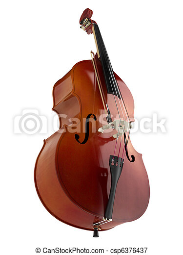 Double bass or string bass, upright bass, standup bass or contrabass ...