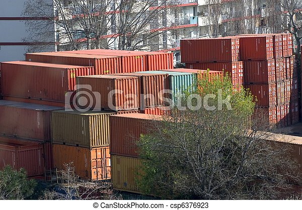containers at the port for shipment - csp6376923