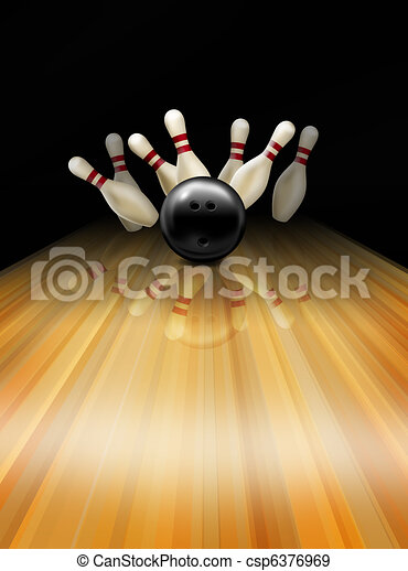 Tenpin bowling - csp6376969